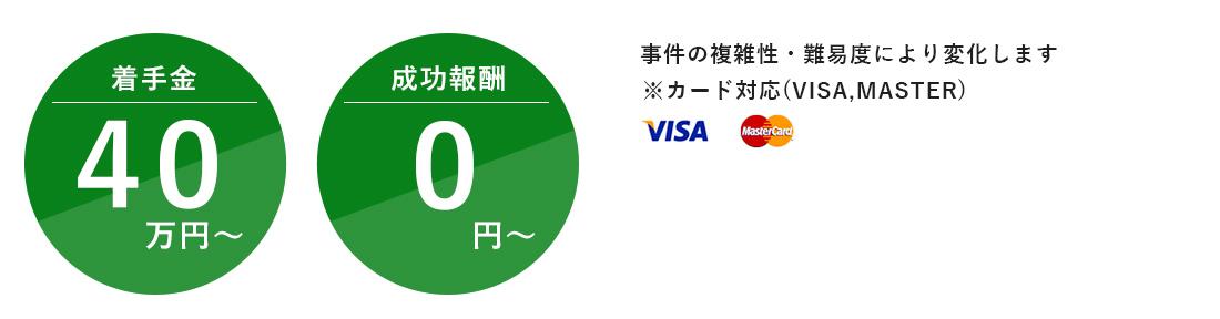 着手金40万~成功報酬0円~