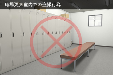 職場更衣室内の盗撮行為